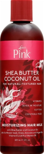 Luster's Pink Shea Butter Coconut Oil Moisturizing Hair Milk Perspective: front