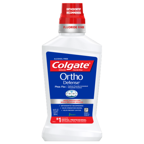 Colgate Ortho Defense Phos- Flur Mouthwash Perspective: front