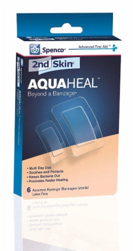 Spenco 2nd Skin AquaHeal Assorted Size Bandages Perspective: front