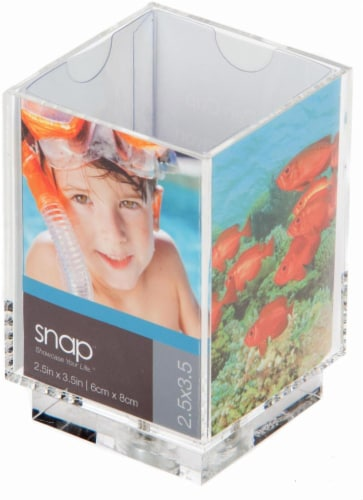 Pinnacle Snap Picture Frame Pencil Holder - Transparent Perspective: front