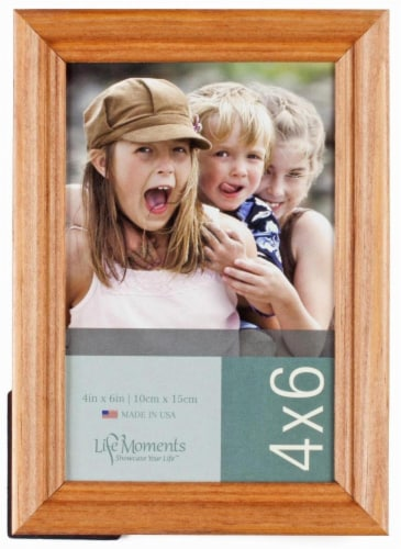 Pinnacle Life Moments 4 x 6 Picture Frame - Natural Wood Perspective: front