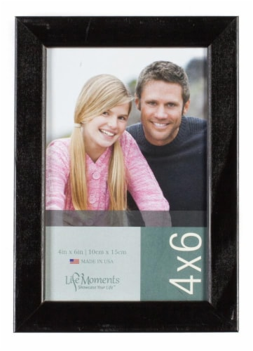Pinnacle Life Moments 4 x 6 Picture Frame - Black Perspective: front
