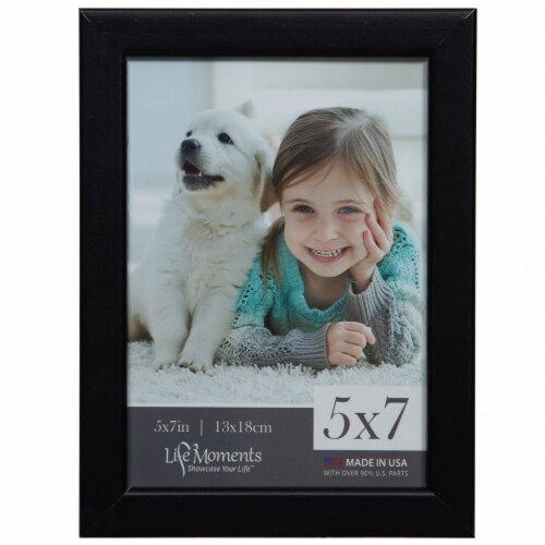 Pinnacle Life Moments 5 x 7 Picture Frame - Black Perspective: front