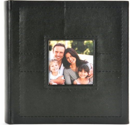 Pinnacle Stitched Photo Album - Black Perspective: front