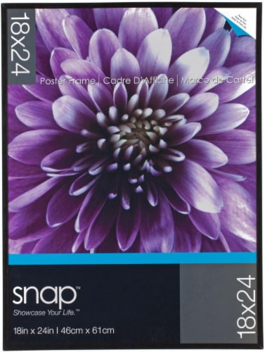 Pinnacle Snap Poster Frame - Black Perspective: front