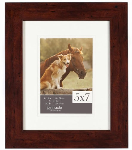 Gallery Solutions Matted Picture Frame - Walnut Perspective: front