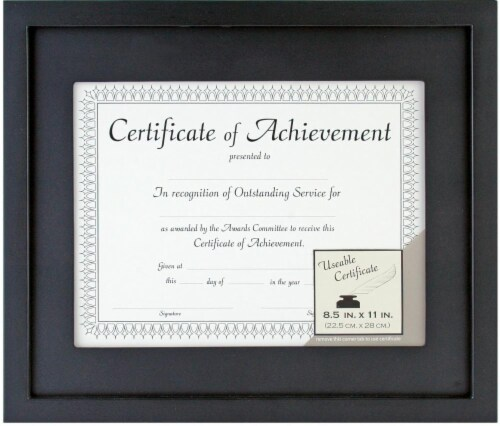 Ralphs - Pinnacle 11 x 13 Document Frame with 8.5 x 11 Mat - Black