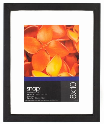 Pinnacle Snap 8 x 10 Float Picture Frame - Black Perspective: front