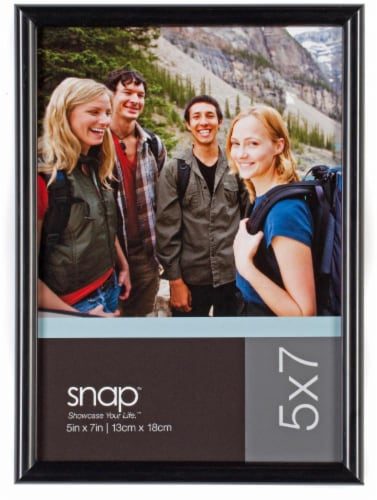 Pinnacle Snap 5 x 7 Back-Loading Picture Frame - Black Perspective: front