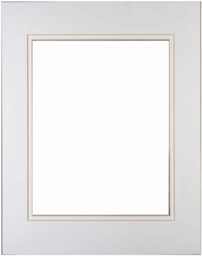 Pinnacle 5 x 7 Picture Frame with 3.5 x 5 Double Mat - White/White Perspective: front