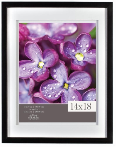 Gallery Solutions Airfloat 14 x 18 Inch Picture Frame with 11 x 14 Inch Mat Perspective: front