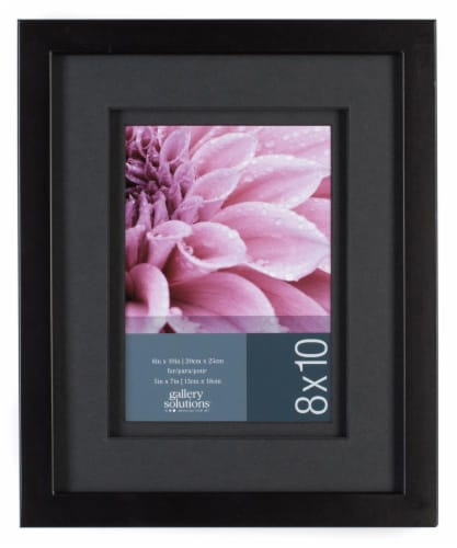 Pinnacle Snap Picture Frame - Black Perspective: front