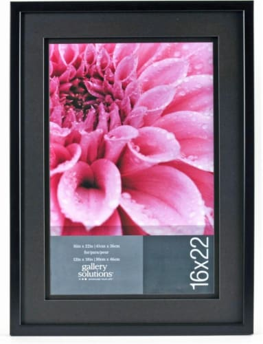 Pinnacle Gallery Solutions Picture Frame - Black Perspective: front