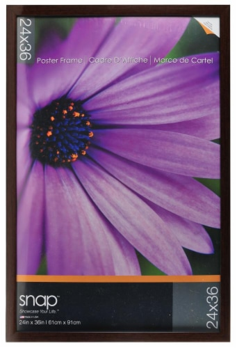 Pinnacle Snap Gallery Poster Frame - Brown Perspective: front