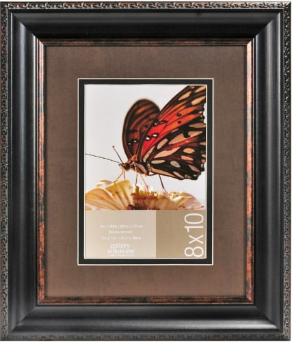 Pinnacle Gallery Solutions Picture Frame - Brown/Black Perspective: front