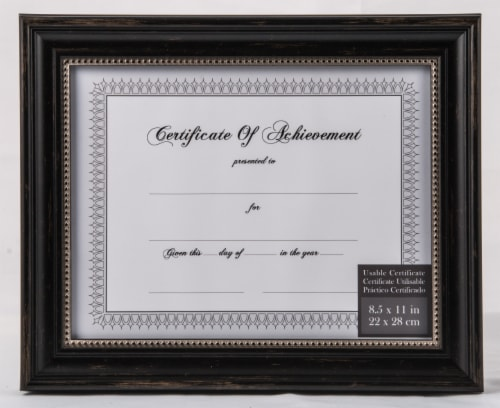 Pinnacle Document Frame - Genova Black Perspective: front