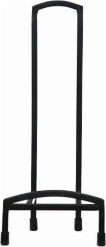 Pinnacle Round-Top Metal Easel - Black Perspective: front