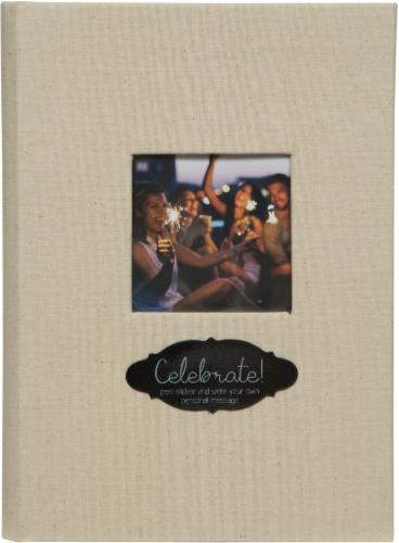 Pinnacle Linen and Chalkboard Photo Album - Beige Perspective: front