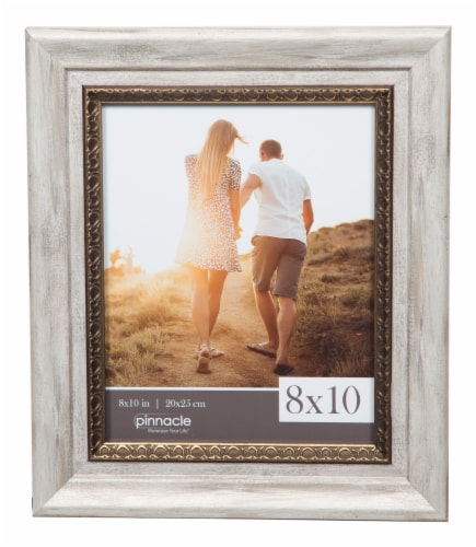 Pinnacle Ornate Photo Frame - White/Gold Perspective: front