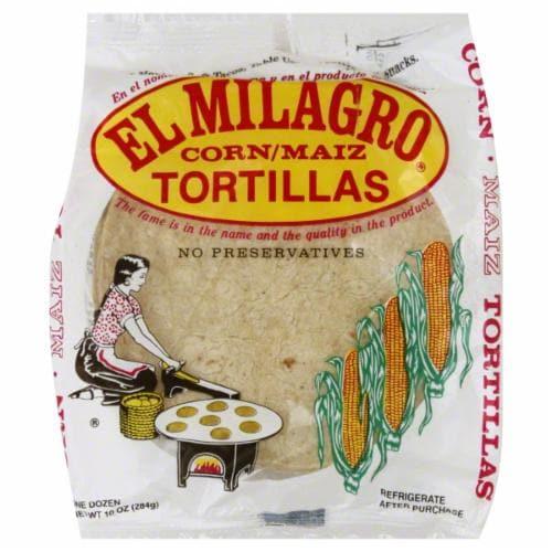El Milagro Corn 12 Count Tortillas Perspective: front