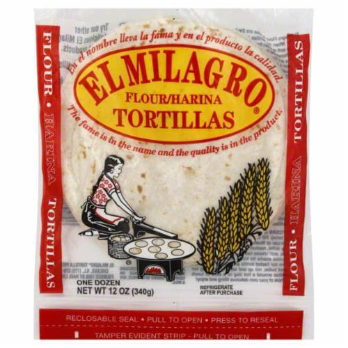 El Milagro Flour Tortillas Perspective: front