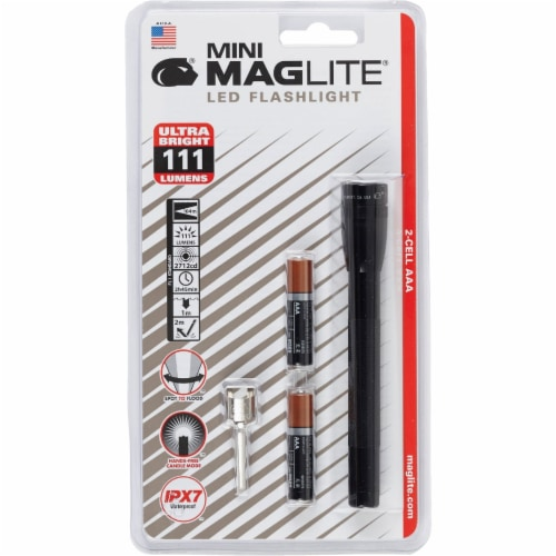 MagLite® Mini Black LED Flashlight Perspective: front