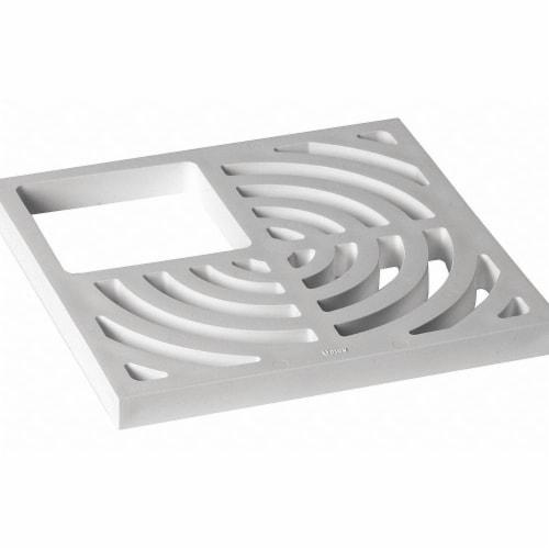 Oatey Floor Sink Top Grate,9-3/16in.L,3/4 in.  42752 Perspective: front