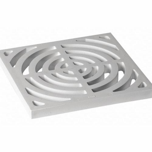 Oatey Floor Sink Full Top Grate,9-3/16 L  42753 Perspective: front
