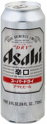 Asahi Super Dry Beer Perspective: front