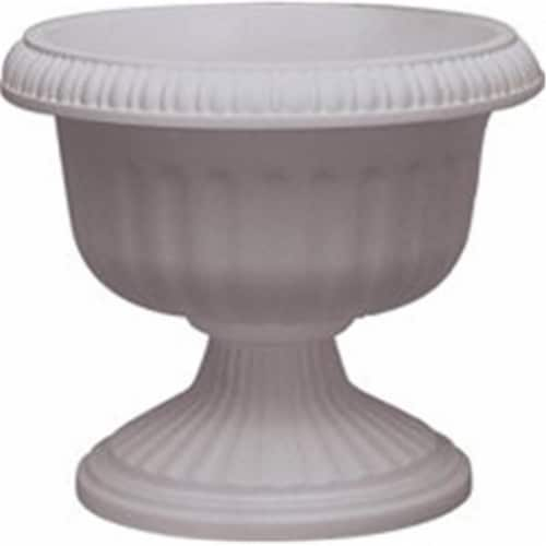 Ames-True Temper UR1810WH 18 in. Grecian Urn - White Perspective: front