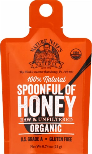 Nature Nate's Raw & Unfiltered Organic Spoonful of Honey Perspective: front