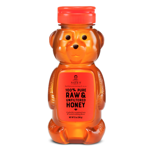 Nature Nate's Classic Raw and Unfiltered Honey Bear Perspective: front