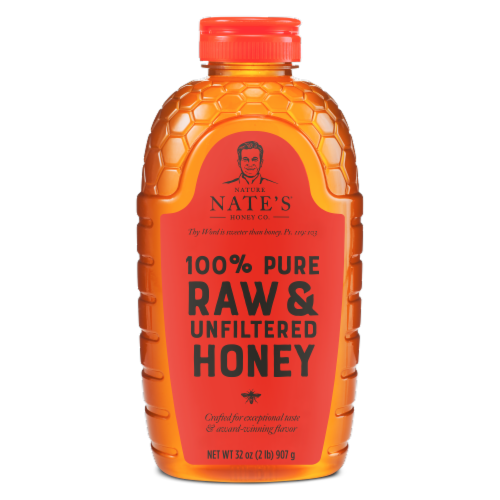 Nature Nate's Classic Raw & Unfiltered Honey Perspective: front