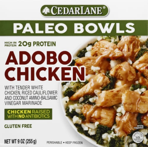 CedarLane Adobo Chicken Paleo Bowl Frozen Entree Perspective: front