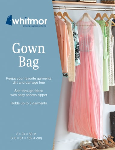Whitmor Gown Bag - Clear Perspective: front