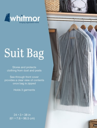Whitmor Suit Bag - Clear Perspective: front