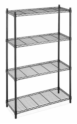 Whitmor Supreme 4-Tier Shelving - Black Perspective: front