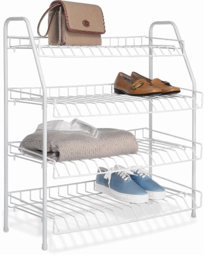 Whitmor 4-Tier Closet Shelves - White Perspective: front