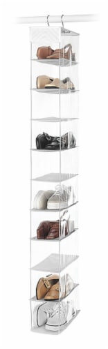 Whitmor Open Shoe Rack - Clear Perspective: front