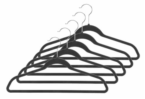 Whitmor Spacesaver Suit Hangers - Black Perspective: front