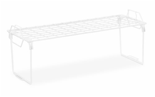 Whitmor Grid Stacking Shelf - White Perspective: front