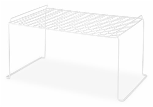Whitmor Large Stacking Shelf - White Perspective: front