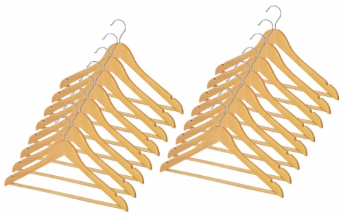 Whitmor Natural Wood Suit Hangers Perspective: front