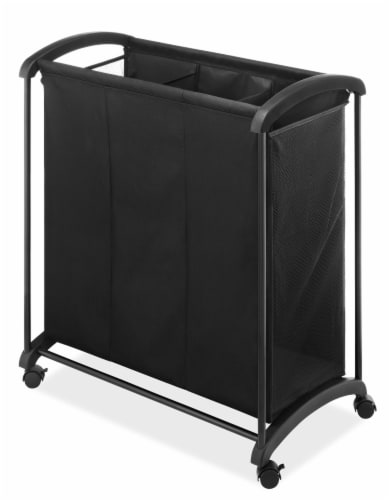 Whitmor 3-Section Laundry Sorter - Black Perspective: front
