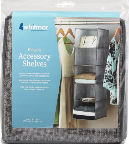Whitmor Hanging Accessory Shelves Perspective: front