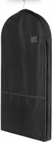 Whitmor Deluxe Garment Bag - Black Perspective: front