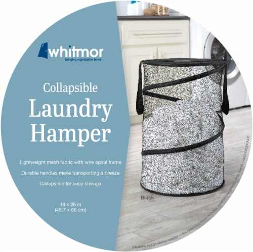 Whitmor Collapsible Laundry Hamper - Assorted Perspective: front