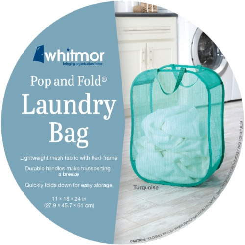 Whitmor Pop & Fold Laundry Bag - Assorted Perspective: front