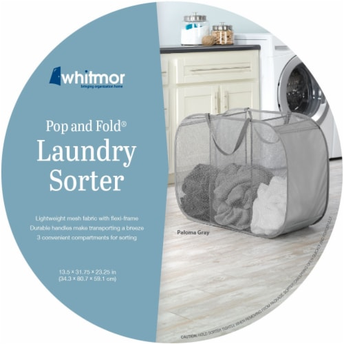Whitmor Pop & Fold Laundry Sorter - Assorted Perspective: front