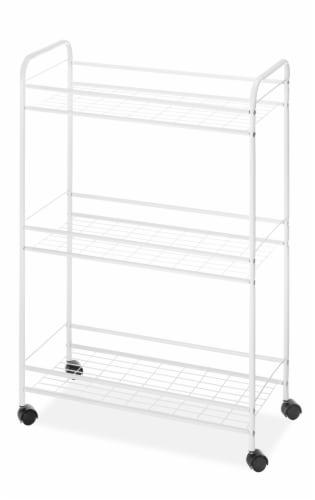 Whitmor Slim Household Cart - White Perspective: front